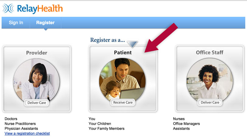 RelayHealth patient selection