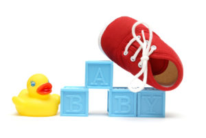 Baby blocks with duck