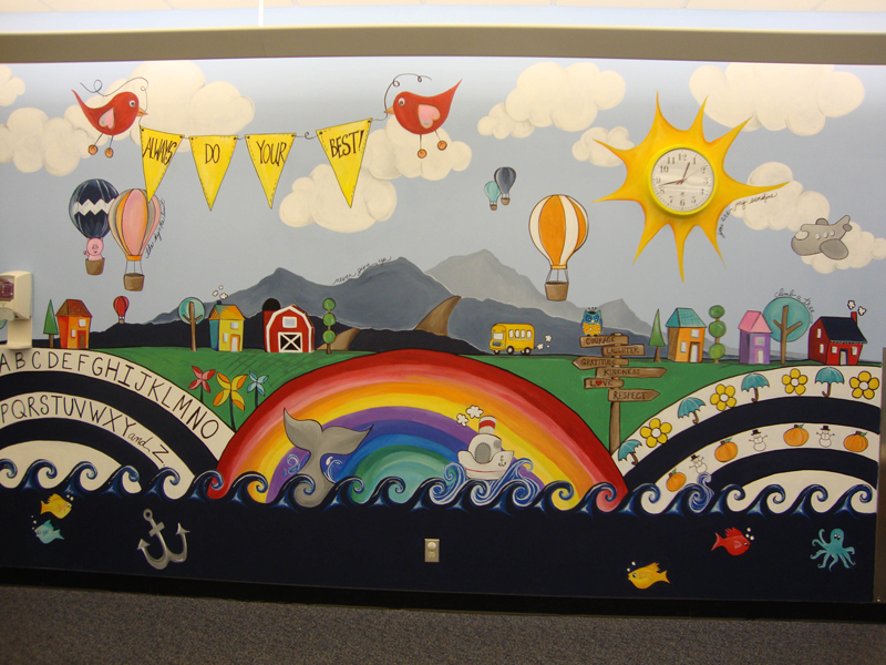 Mural in Peds Therapy