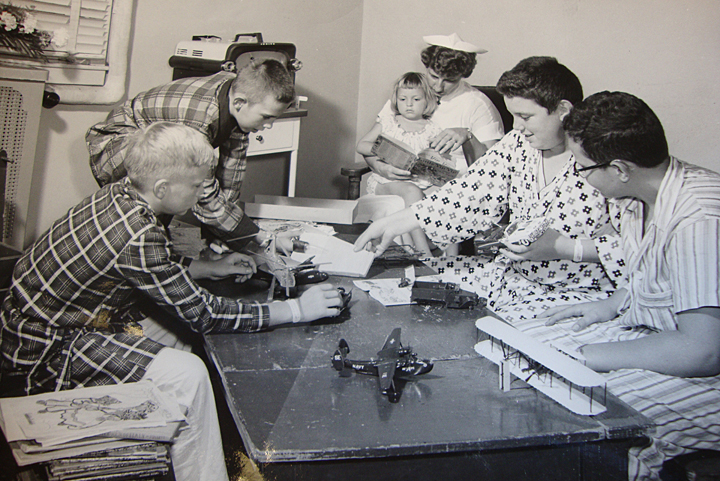 A hospital promotional photo from the 1950's as captured by Secret City photographer, Ed Westcott