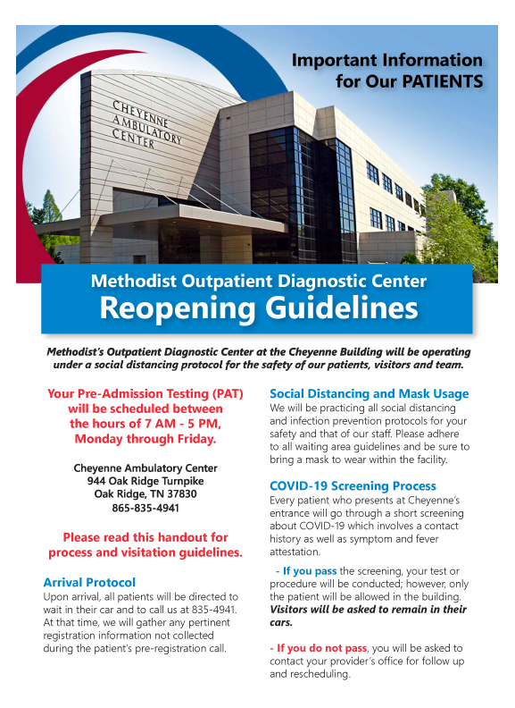 PATIENT - Phased Reopening and Visitation Guidelines - PG 1