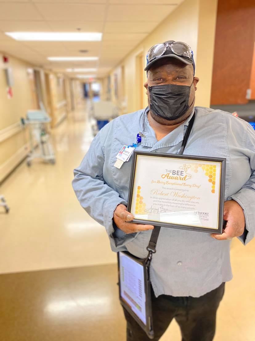 Robert Washington's name is a staple among the countless cards of thanks and positive patient comments we receive every month.  His BEE Award could not be more deserved!